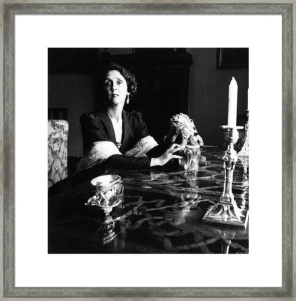 Maria Josefa Fernandez De Henestrosa De Martinez Framed Print by Horst P. Horst