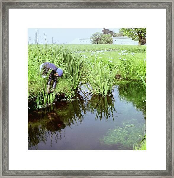 Marie Gyselinck In The Mouton Garden Framed Print by Horst P. Horst