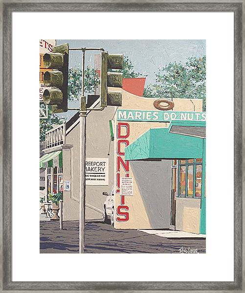 Marie's Donuts Framed Print by Paul Guyer