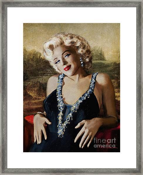 Marilyn 126 Mona Lisa Framed Print