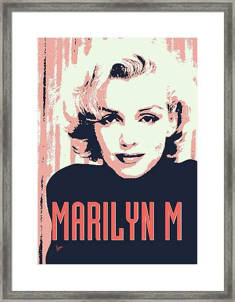 Marilyn M Framed Print