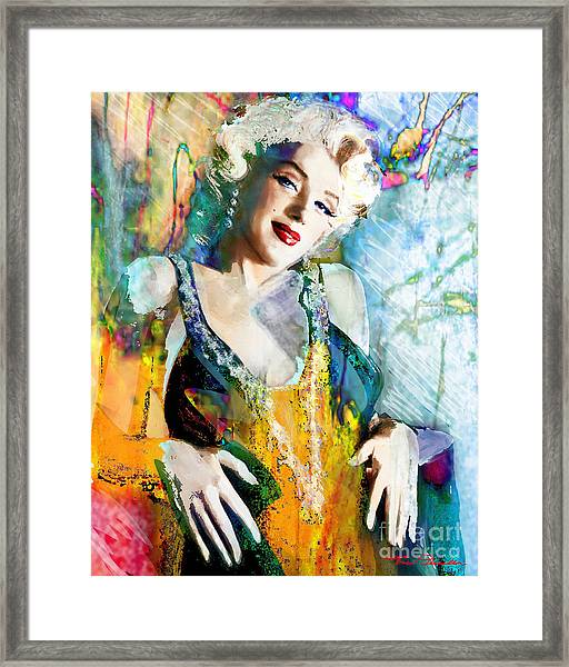 Marilyn Monroe 126 E Framed Print