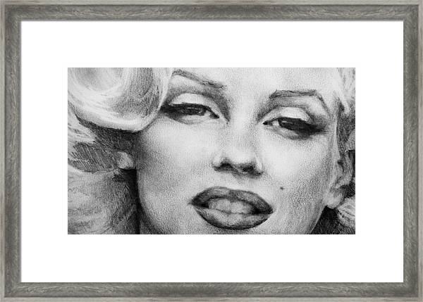 Marilyn Monroe - Close Up Framed Print