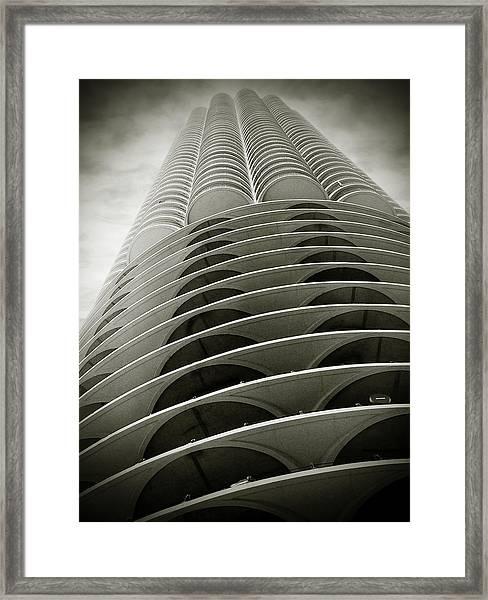 Marina City Chicago Il Framed Print