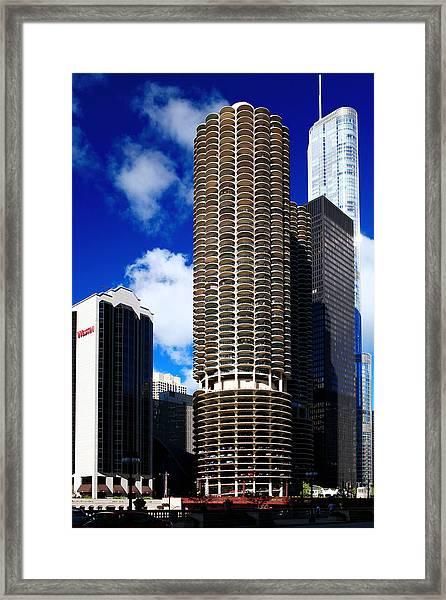 Marina City Corncob Tower Framed Print