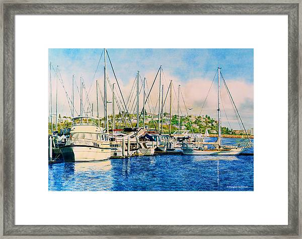 Marina Del Rey Afternoon Framed Print