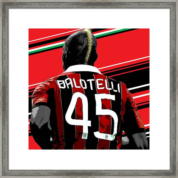 Mario Balotelli Ac Milan Print Framed Print