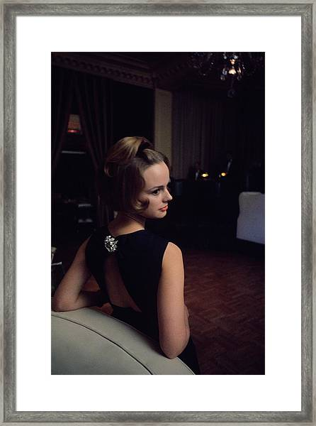Marion Copeland In The Pump Room Framed Print