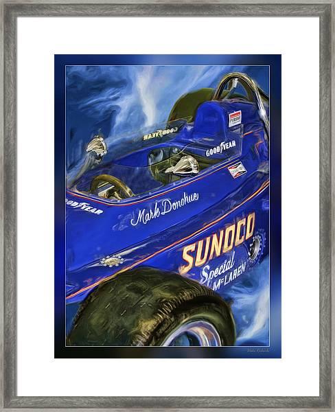 Mark Donohue 1972 Indy 500 Winning Car Framed Print