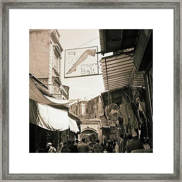 Market In Turkey Framed Print