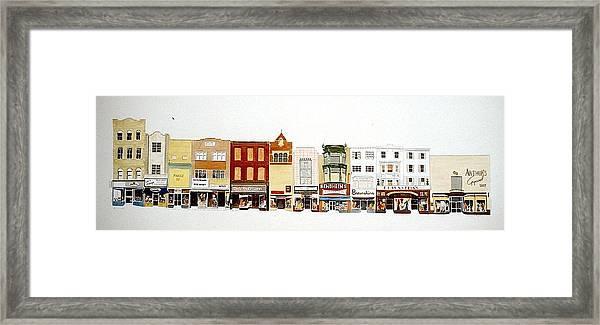 Market St. Framed Print