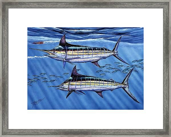 Marlins Twins Framed Print