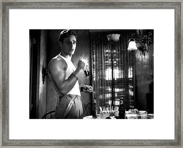 Marlon Brando @ A Streetcar Named Desire Framed Print