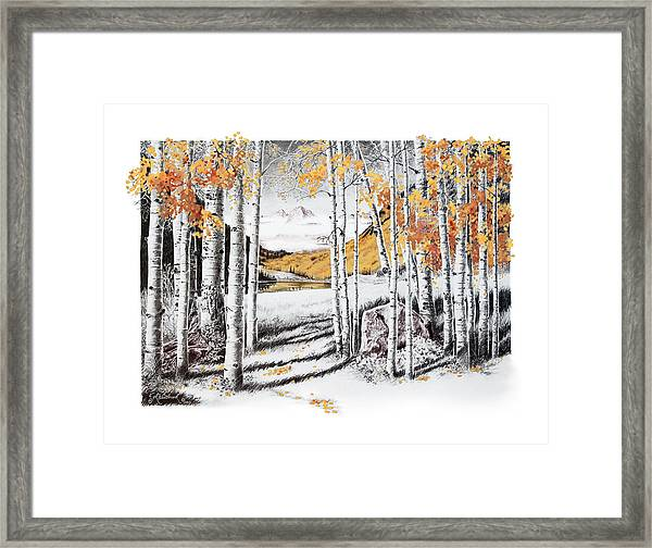 Maroon Bells Gold Framed Print