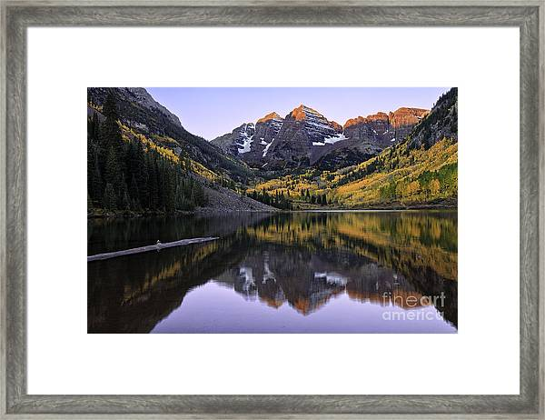 Maroon Bells Reflection Framed Print