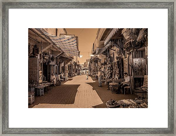 Marrackech Souk At Noon Framed Print