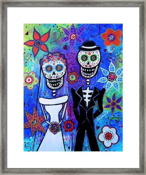 Married Couple Dia De Los Muertos Framed Print