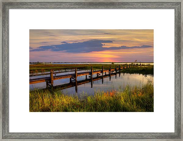 Marsh Harbor Framed Print