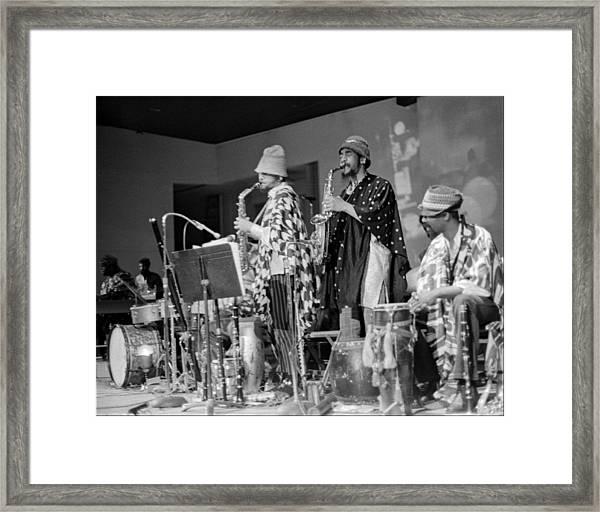 Marshall Allen And Danny Davis Framed Print