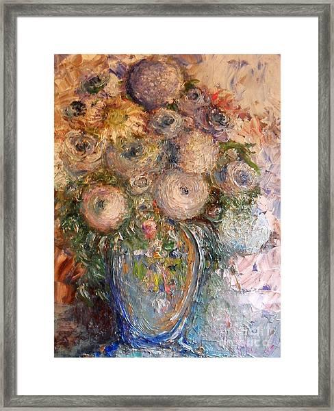 Marshmallow Flowers Framed Print