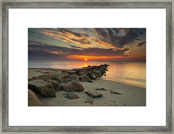 Marthas Vineyard Sunrise Framed Print