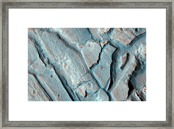 Martian Lake Sediments Framed Print