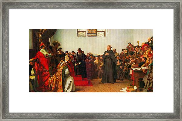 Martin Luther Before The Diet Of Worms Framed Print