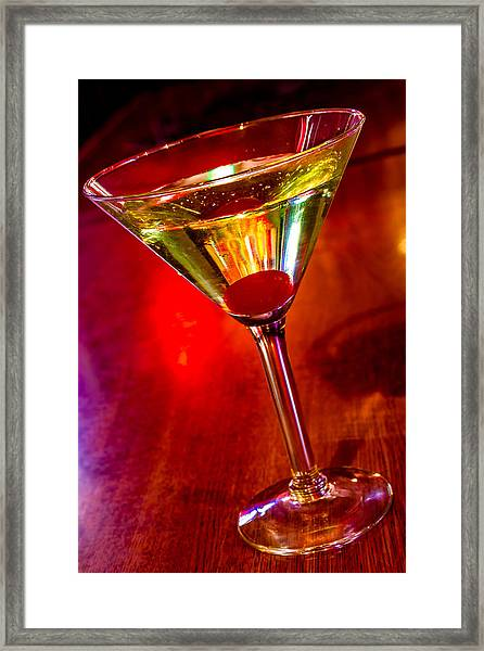 Martini At The Local Pub Framed Print