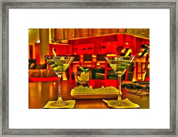 Martini Time Framed Print