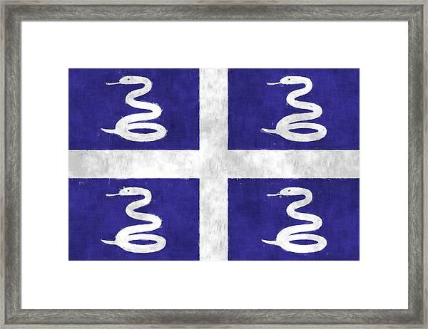 Martinique Flag Framed Print