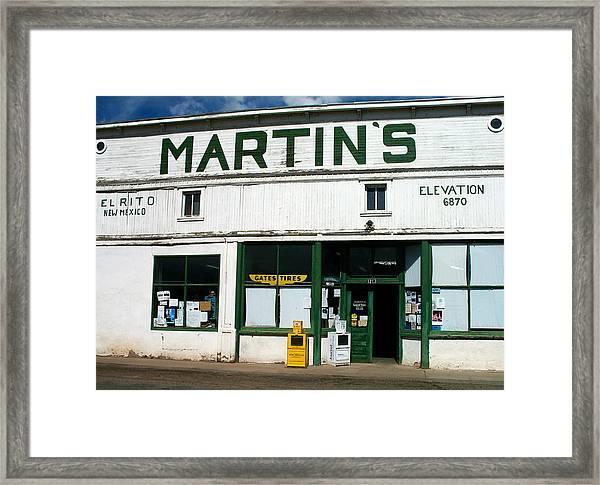Martin's Framed Print
