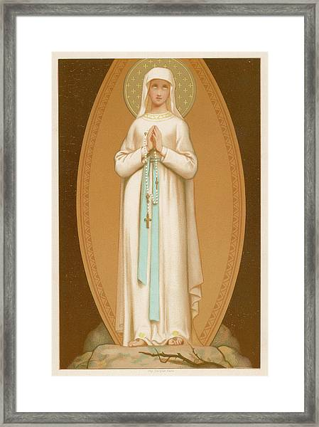 Mary As Supposedly Seen By  Bernadette Framed Print