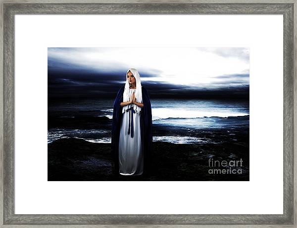 Mary By The Sea Framed Print