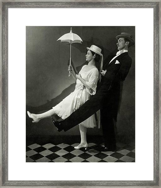 Mary Hay And Clifton Webb Dancing Framed Print