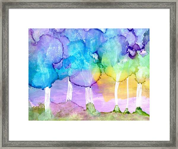 Mary In The Woods 2 Framed Print