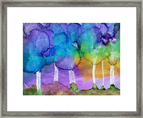 Mary In The Woods 3 Framed Print