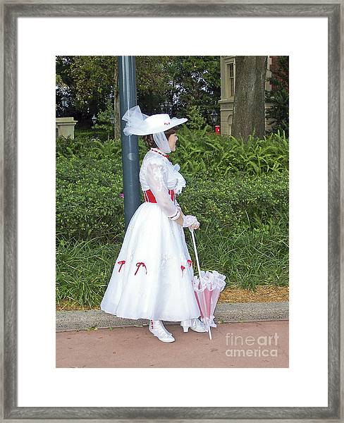 Mary Poppins - Epcot Framed Print