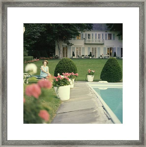 Mary Woodard Lasker At Home Framed Print
