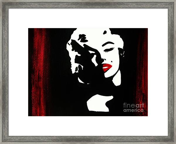 Marylin Pop Art Portrait Framed Print