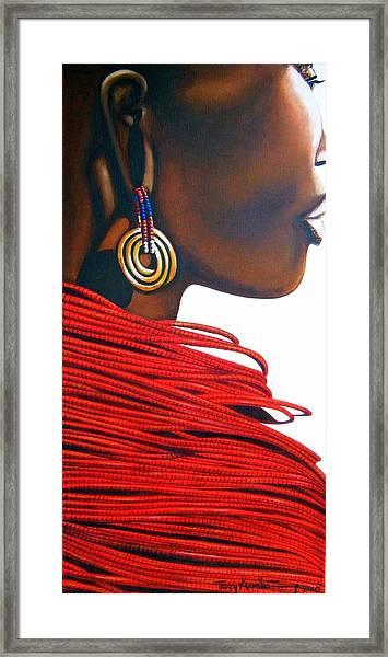 Masai Bride - Original Artwork Framed Print