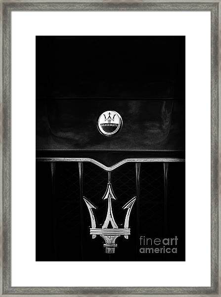Maserati Quattroporte Monochrome Framed Print