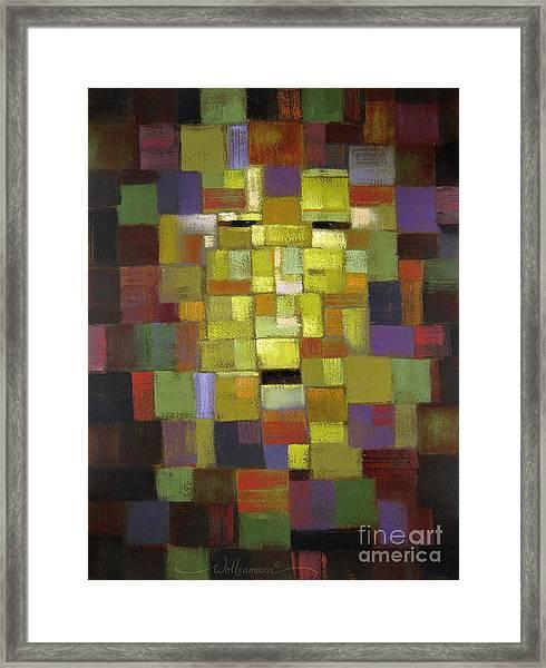 Mask Of Color Framed Print