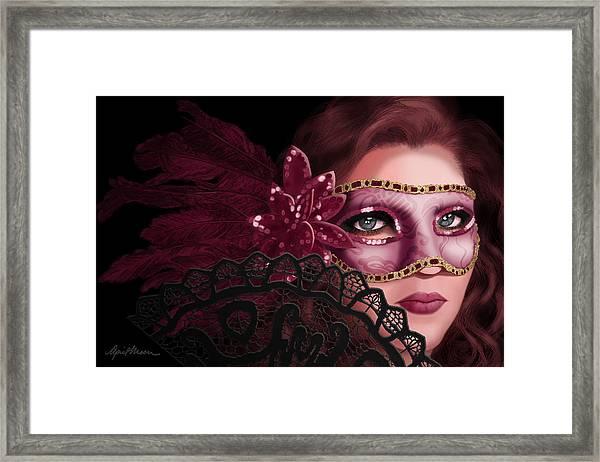 Masked I Framed Print
