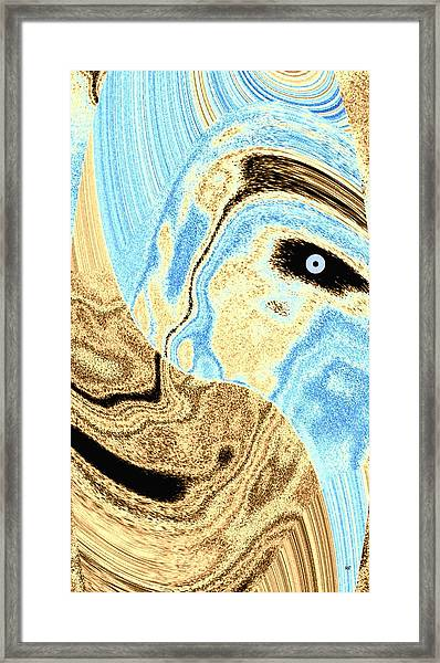 Masked- Man Abstract Framed Print