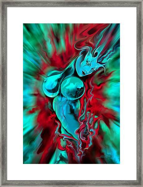 Masked Venus Framed Print