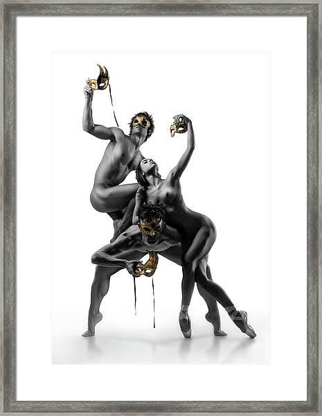 Masks Iv Framed Print by Ddiarte