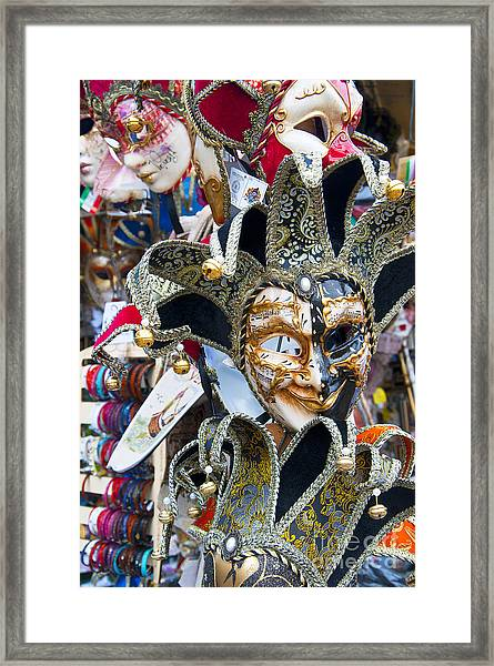 Masks With Attitude Framed Print