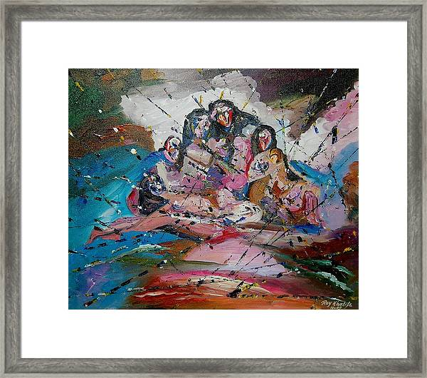 Mass Of Figures Framed Print