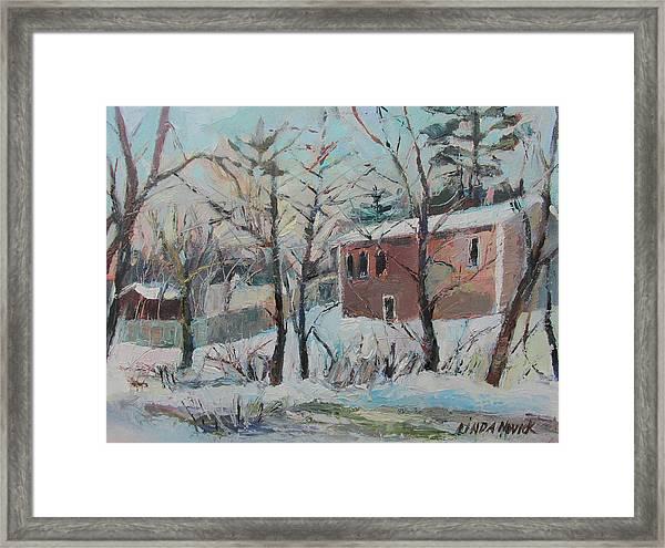 Massachusetts Snowfall Framed Print