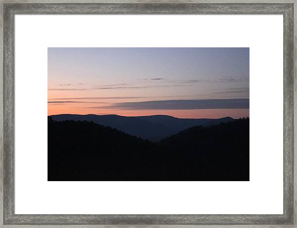 Massanutten Sunrise Framed Print